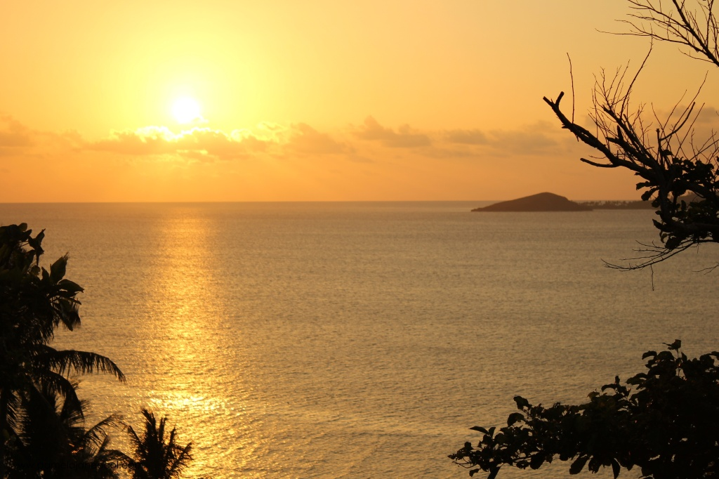 picturesque sunset in Calaguas